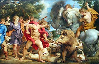 The Calydonian Boar Hunt, by Rubens