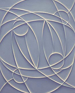Painting by Tomma Abts