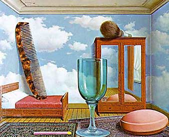 Personal Values - Painting by Magritte, 1952