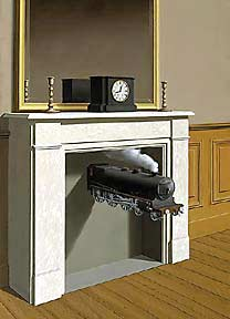 Time Transfixed, Painting by Magritte, 1938