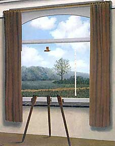 The Human Condition, by Magritte, 1933